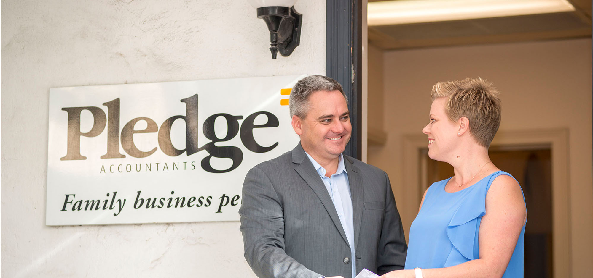 Ben from Pledge Accounting with a happy client
